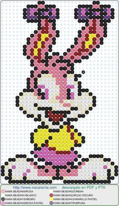 Babs Bunny EN HAMA BEADS, Perler Bead Patterns
