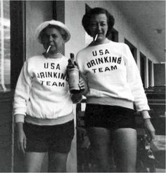 USA Drinking Team haha i think i found mine ; I Smile, Make Me Smile, Youre My Person, In Vino Veritas, Looks Cool, Just For Laughs, Laugh Out Loud, A Team, Team Member