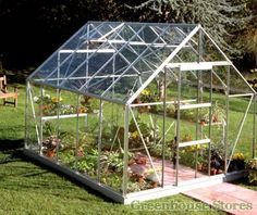 Halls Universal Silver 8x10 Greenhouse with 3mm Horticultural Glazing http://www.greenhousestores.co.uk/Halls-Universal-Silver-8x10-Greenhouse-3mm-Horticultural-Glazing.htm
