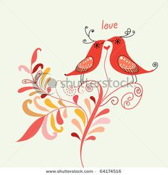 picture, love birds
