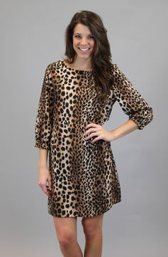Fierce And Fabulous | Leopard Shift Dress #shopacutabove #leopard #shift #dress