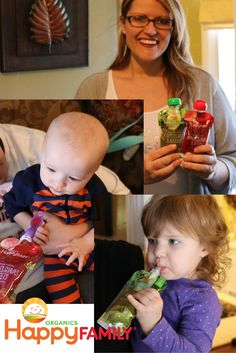 Organic baby food in clear see-the-freshness pouches from Happy Family! Organic, high quality and yummy!   #MKBabyBrunch #Sponsored #MacKid  http://happyfamilybrands.com/this-is-happy/