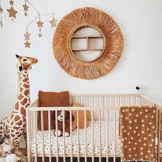 Safari Theme Nursery, Baby Nursery Decor, Project Nursery, Girl Nursery, Jungle Safari, Nursery Art, Brown Nursery, Safari Room Decor, Baby Giraffe Nursery