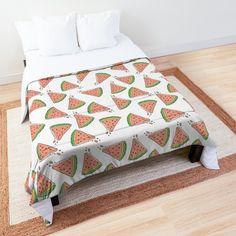 'Summer Watermelon Taste' Comforter by EllenBeb College Dorm Rooms, College Dorm Bedding, Make Your Bed, Square Quilt, Mattress, Comforters, Blanket, Pillows, Printed