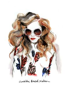 Inspiration Hut – Art and Design Blog » Beautiful Fashion Portrait Illustrations by Caroline Andrieu