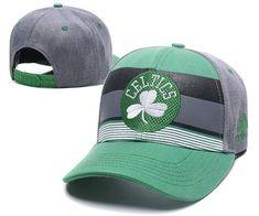 a67c897e66730b Mens Womens Boston Celtics NBA Team Logo Striped Flex Hat - Green
