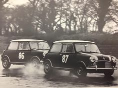 A familiar sight on race circuits during the Mini Cooper Classic, Classic Mini, Cooper Cars, John Cooper Works, Mini Stuff, Mini Coopers, Commercial Vehicle, Circuits, Mini Me
