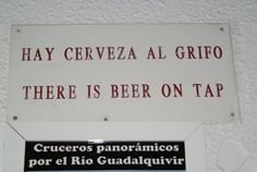 """= We have beer in the tap(s): should be """"cerveza de barril"""".  Stationary Nomad: Journeys in Visual Culture: Spanish Signs and Spanglish"""