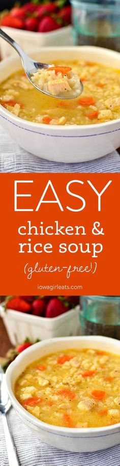 Easy Gluten-Free Chicken and Rice Soup Recipe