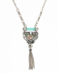 Women's fashion necklace Brand jewelry accessories Luxury gorgeous silvery long tassels pendant necklace for women N1280