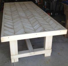 Dad Built This: Farmhouse Chevron Table