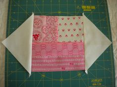 Step 1: Adding Triangles to Quilt Square