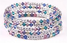 Jewelry Making Idea: Budding Spring Bracelet (eebeads.com)