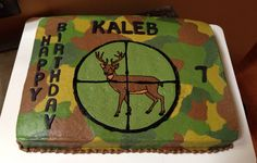 Deer scope cake