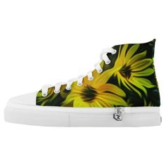 Abstract yellow flower pattern Shoes