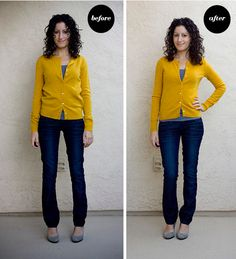 Clothing that's stretched over time or doesn't fit quite right? Depending on the fabric, you might be able to (carefully!) shrink it: 17 Super Useful Styling Tips For Women Under Petite Fashion Tips, Petite Outfits, Fashion Advice, Petite Clothes, Fashion For Petite Women, Fashion Blogs, Fashion Stores, Petite Dresses, Classy Outfits