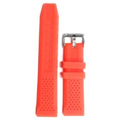 22mm Watermelon Pink Silicone Jelly Rubber Lady Watch Band Straps WB1051H22JB