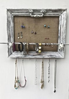 Hey, I found this really awesome Etsy listing at https://www.etsy.com/listing/537517300/jewelry-organizer-holder-shabby-chic