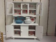 Shabby Chic Miniature Dollhouse Hutch by DebbieCalif on Etsy, $22.99