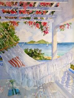 Watercolors by Jinx Morgan - Terraces & Hammocks