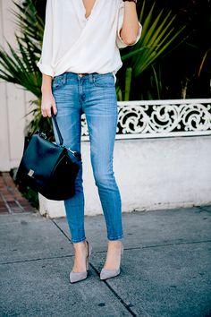 jeans + blouse