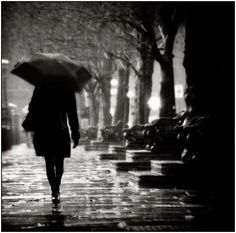 a dark and rainy night in the village