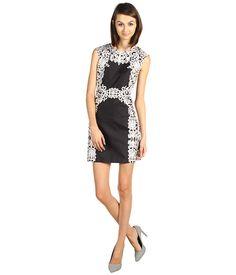 Tibi Violette Sleeveless Dress Black Multi - 6pm.com