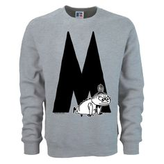 The design of the Moomin Alphabet�is based on an original typography used in the early comic strips by Tove Jansson, the author and creator of the Moomins. Each letter corresponds with the name of the Moomin character in English.�Please see the second�slide for measurements and note that this is a unisex sweatshirt model.�The price of this item�includes free global shipping.�T-shirts�and other products in the same order are delivered separately!Note that this is a custom made on-demand…