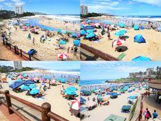 Beach Media - Cell C umbrella campaign - Margate Beach. #BeachMedia #umbrellas #Margate #outdooradvertising
