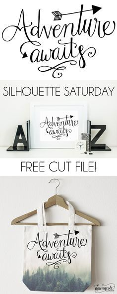 """Use heat transfer materials and a heat press to make your own """"Adventure"""" apparel. Silhouette Curio, Silhouette Portrait, Silhouette Cameo Projects, Silhouette Files, Silhouette Machine, Silhouette Design, Silhouette Vinyl, Silhouette America, Vinyl Crafts"""