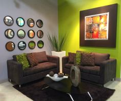Simple Green living room decor Available at Decora Home PR at Facebook!