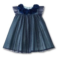Girls' Cap Sleeve saphire sparkly Holiday Dress// just got this for rue for Christmas!  Eeeeep!
