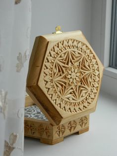 """Kaleidoscope"" chip carved box (2017)"