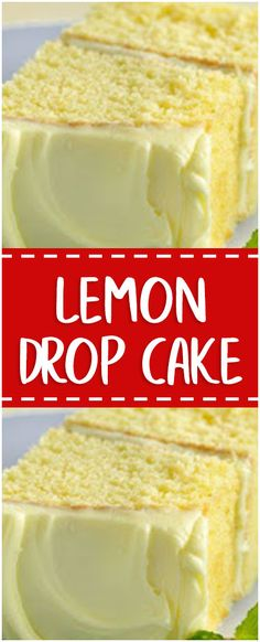 LEMON DROP CAKE #lemon #drop #cake #easyrecipe #delicious #slowcookerrecipes