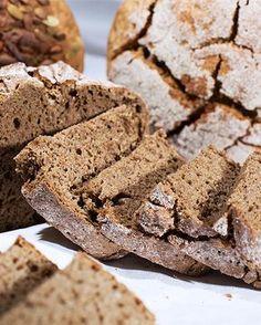 Helppo ruisleipä (2 kpl), valmistusaika yli 60 min. Rye Bread Recipes, Banana Bread, Cookies, Baking, Desserts, Food, Crack Crackers, Tailgate Desserts, Deserts