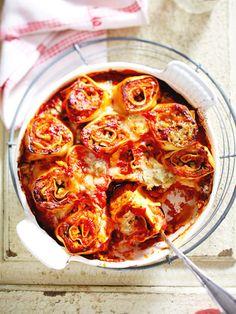 Ein vegetarisches Sonntagsessen, das 1A aussieht: Pasta-Rolls! #vegetarisch #sonntagsessen #pasta