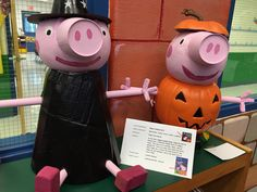 Peppa Pigs Pumpkin Art for our school wide pumpkin patch! Short summary to include writing.