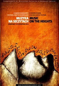 """Music on Heights"", music festival poster"
