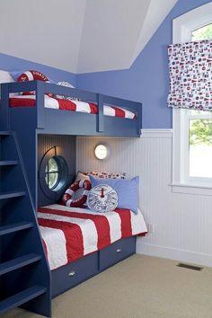 Great fun scheme n so want a few port holes // ein kleines maritimes Zimmer