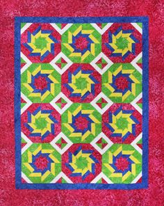 When you look up the definition of the word whirling you'll understand how this quilt received its name. The blocks certainly give the appearance of spinning rapidly around a central point. They are made with strip piecing and my favorite 'power tool', the Tucker Trimmer 3. It truly is easy enough for beginners, but interesting enough to engage the most veteran stitchers. So don't hesitate. You will absolutely love the results.
