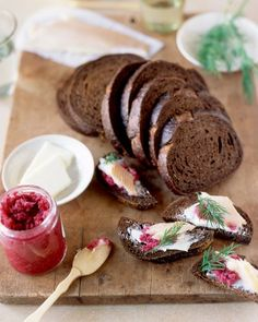 Smoked trout on pumpernickel -Christmas