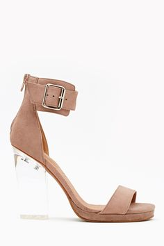Soiree Platform - Blush Suede in Shoes Jeffrey Campbell at Nasty Gal