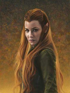 Tauriel,The Hobbit:The Desolation of Smaug, Art print, Autumn Mist Hobbit Art, O Hobbit, Legolas And Tauriel, Thranduil, Elfa, Desolation Of Smaug, Evangeline Lilly, Cheap Paintings, Arwen