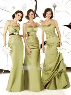 green and gold bridesmaid dresses | Olive Green, Ivory and Gold Inspiration Colors : wedding gold green ...