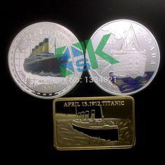 Canada 2012 R.M.S Titanic FIJi Elizabeth/Elizabeth Commemorative Silver Coated Medal Coin/Bullion bar