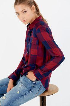 20 Springfield Camisa Cuadros Bolsillos lavanda
