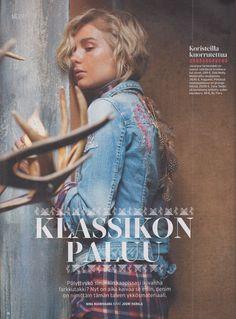 Odd Molly Jeans jacket in MeNaiset-magazine Finland, Januari 2016
