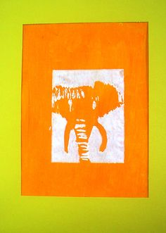 Lessons from the K-12 Art Room: Endangered Animal Relief Prints