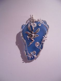 OOAK Wirewrapped Sea Glass Fairy Pendant by ElementalArtDesigns, $21.50