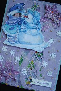 Márcia - cartões: Natal com neve